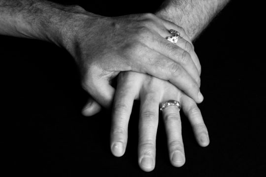 Tawny Phillips - Battered and Broken White Gold Wedding Rings