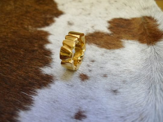Tawny Phillips - Beautiful Handmade Gold Facetted Ring