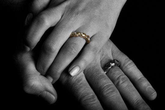 Tawny Phillips - Crumple Wedding Rings
