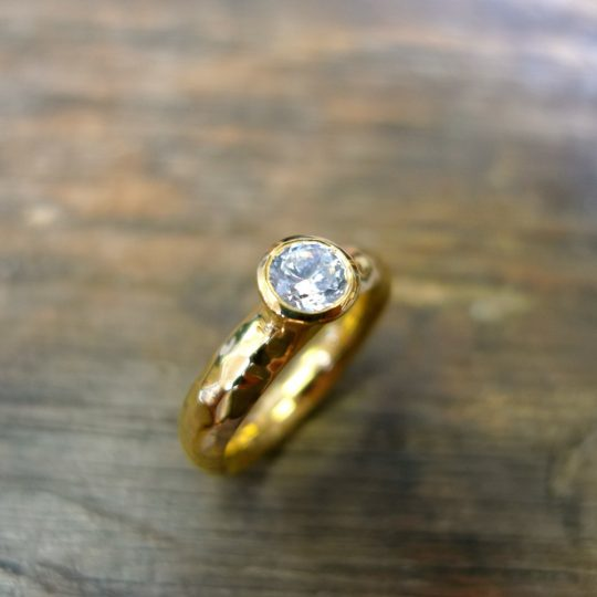 Tawny Phillips - Diamond Crumple Gold Ring