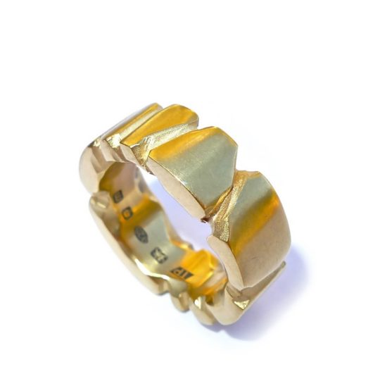 Tawny Phillips Facetted Gold Ring