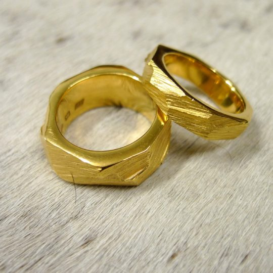 Tawny Phillips - Gold Rough Hewn Rings