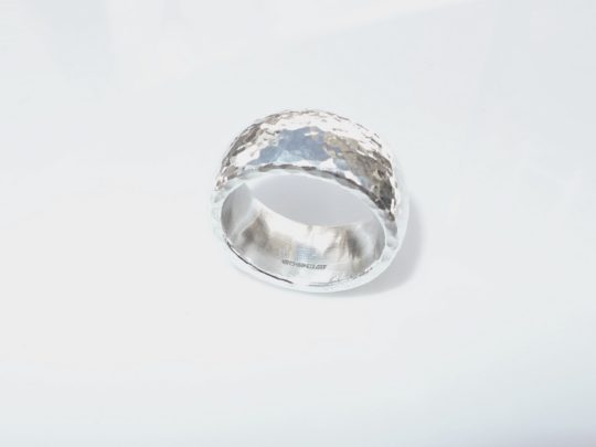 Tawny Phillips Hammered Oval Silver Ring