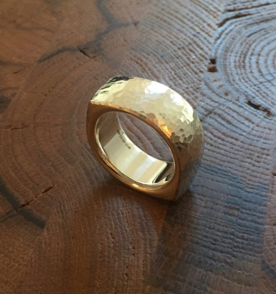 Tawny Phillips - Hammered Silver Eye Ring