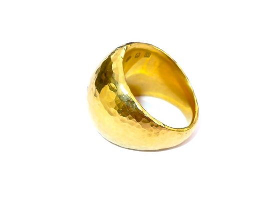 Tawny Phillips - Handmade Gold Hammered Dress Ring