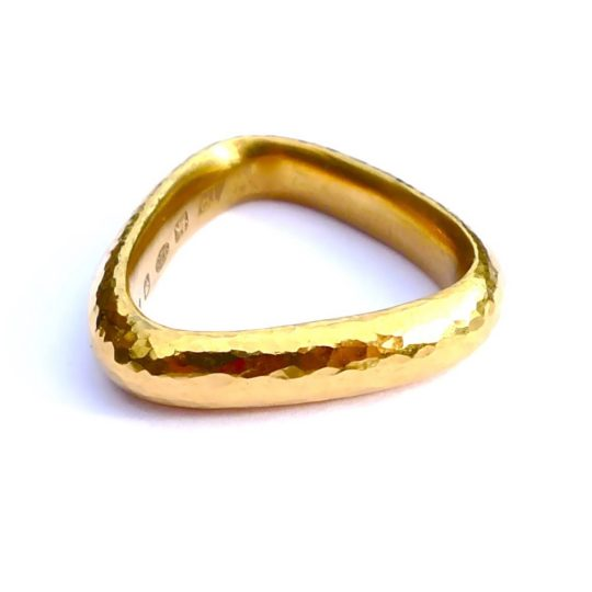 Tawny Phillips Handmade Gold Soft Triangle Ring