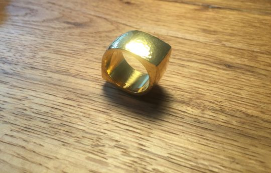 Tawny Phillips - Handmade hammered Gold Eye Ring