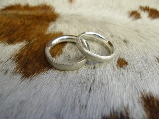 Tawny Phillips - Handmade white gold wedding bands