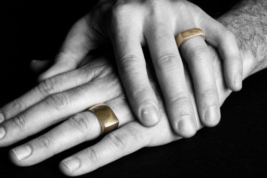 Tawny Phillips - Men's Gold Eye Rings