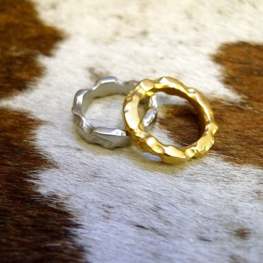 Tawny Phillips Pair of Battered and Broken rings