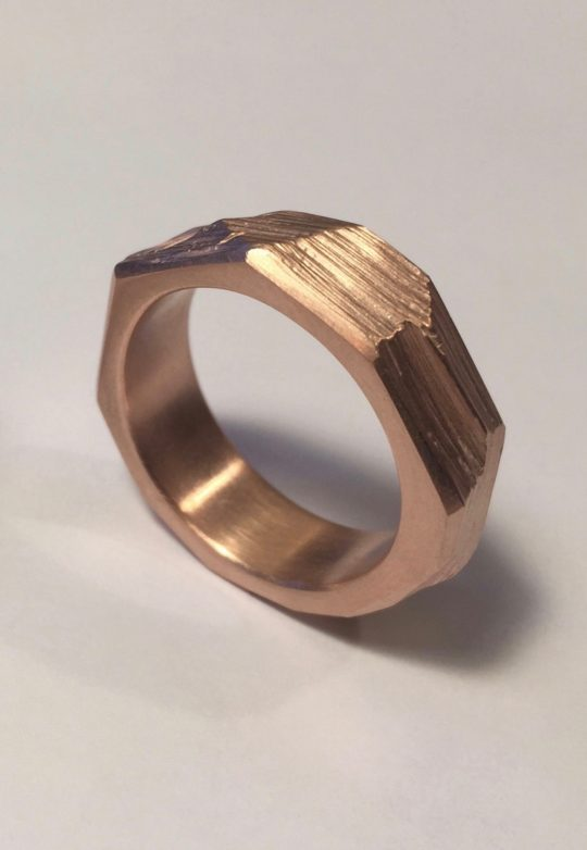 Tawny Phillips Rose Gold Rough Hewn Wedding Ring