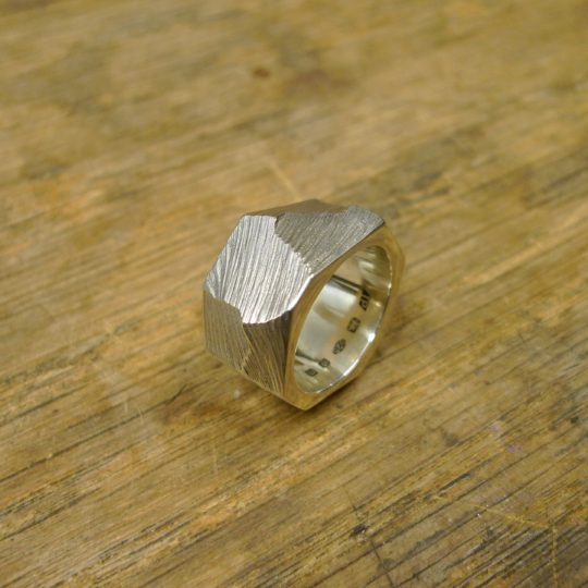 Tawny Phillips - Silver Oval Rough Hewn Ring
