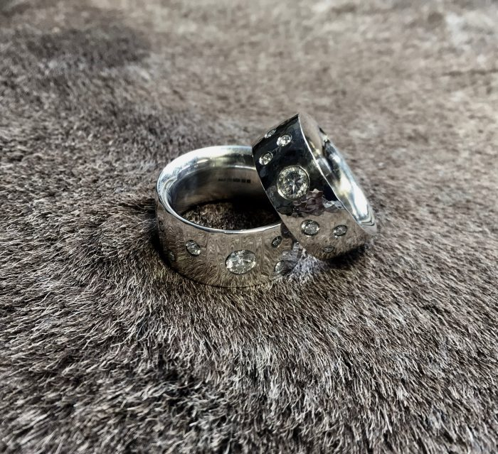 Tawny Phillips handmade diamond wedding rings